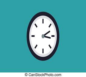 Wall clock running HD animation