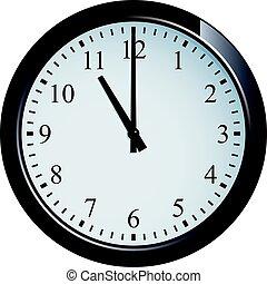 Wall clock set at 11 o'clock