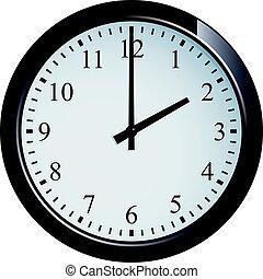Wall clock set at 2 o'clock