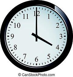 Wall clock set at 4 o'clock