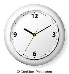 Vector illustration of a white wall clock