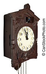 Wall clock with a cuckoo.