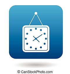 Wall clock with a loop icon, simple style