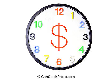 Wall Clock with Money Sign
