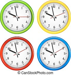 wall clocks clipart and stock illustrations 12 997 wall clocks rh canstockphoto com clocks clipart black and white clipart clocks time