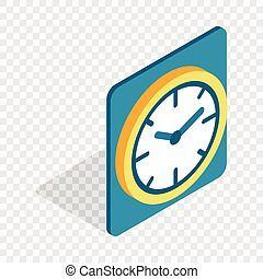 Wall color clock isometric icon