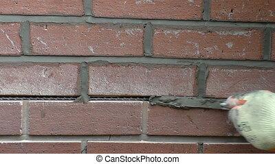 Wall crack repair with helibar
