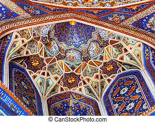 Wall decor in Samarkand.