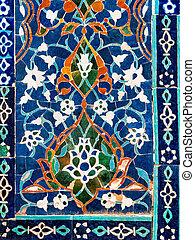Wall decor in Uzbekistan.