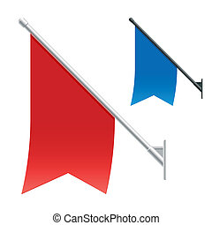 Wall flags - Vector illustration of wall flags