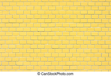 Wall for background texture with yellow bricks