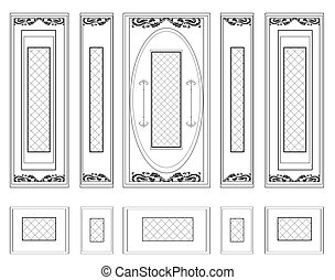 Wall Frames wainscoting ornament - Vector Wall Frames...
