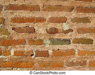 Wall from a red brick
