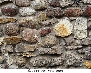 Wall from stones