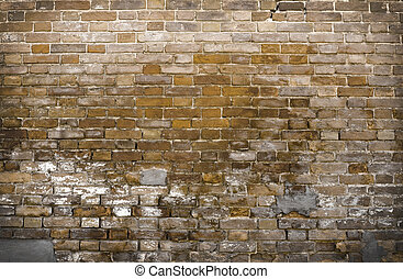 wall from the old red brick