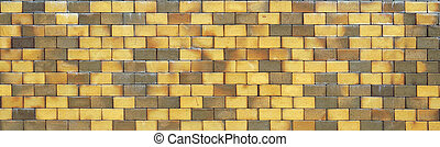 yellow burned clay bricks