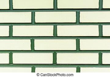 Wall Green Yellow Brick Background