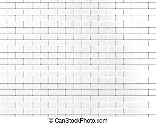 Wall - Illustration of a wall of many bricks on a white...