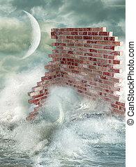 wall in the ocean