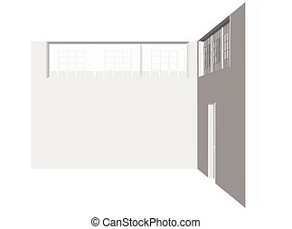 wall interior silhouette on white background