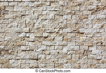 stone tiles - wall is covered with stone tiles