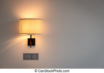Wall lamp in bedroom