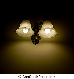 Wall lamp with a shade white background