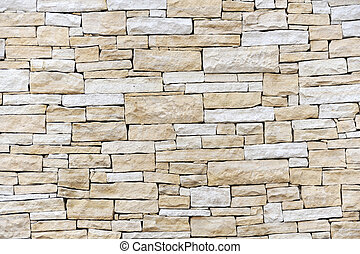 Wall made from sandstone bricks