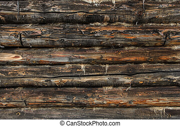 wall made of logs