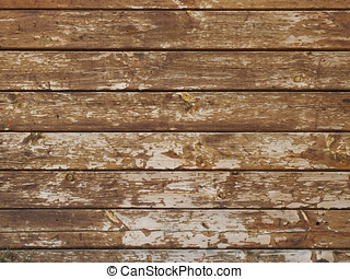 Wall made of old wooden boards