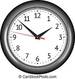 Wall mechanical clock. Vector illustration