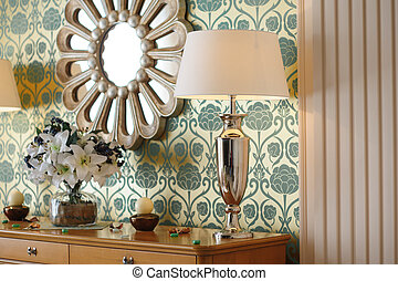 wall mirror in the bedroom