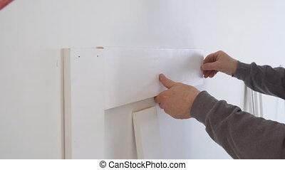 Wall moulding trim air gauge finish nailer man nailed custom...