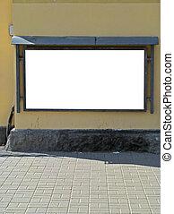wall-mounted, cartelera