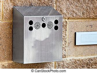 Wall mounted cigarette ash but bin