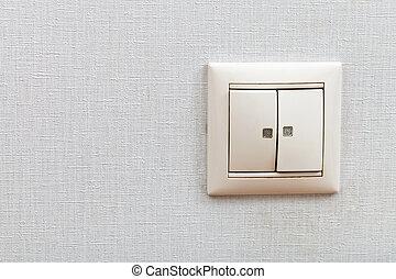 wall-mounted, interruptor ligero