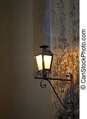 Wall Mounted Lamp at Night