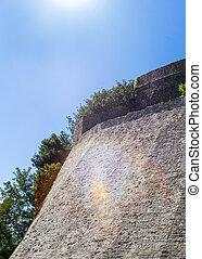 Wall near main entrance to the Stari Grad in Ulcinj.