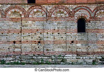 wall of a medieval church