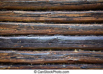 wall of a old wooden house