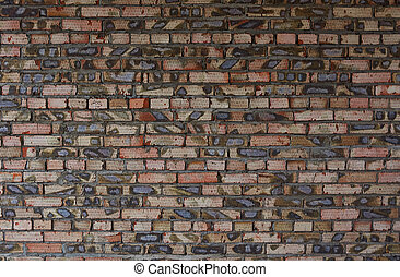 Wall of an red brick building.