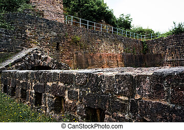Wall of ancient fortress