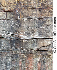 wall of decorative stone