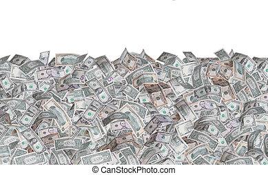 wall of dollar notes