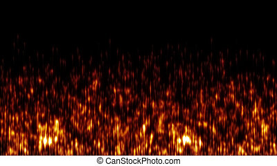 Wall of fire abstract