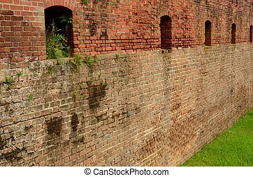 Wall of Fort Clinch