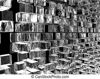 wall of ice cube