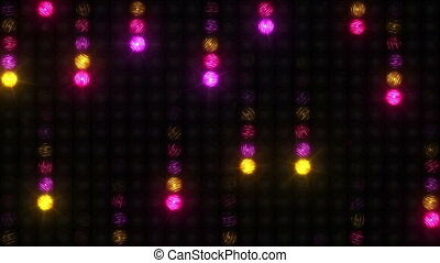 Wall of light meteor shower