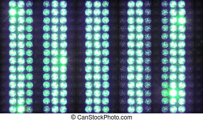 Wall of light with running horizontal stripes, loop