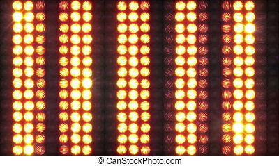 Wall of light with running horizontal stripes, loop - A...